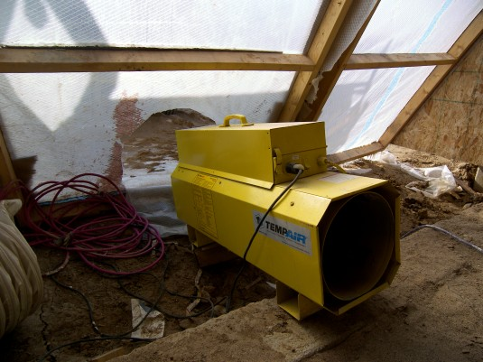 Direct-Fired Heater on construction site