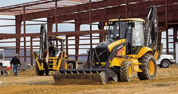 BL 70 Backhoe Rentals in Merced, CA with 4 in 1 Bucket Attachment