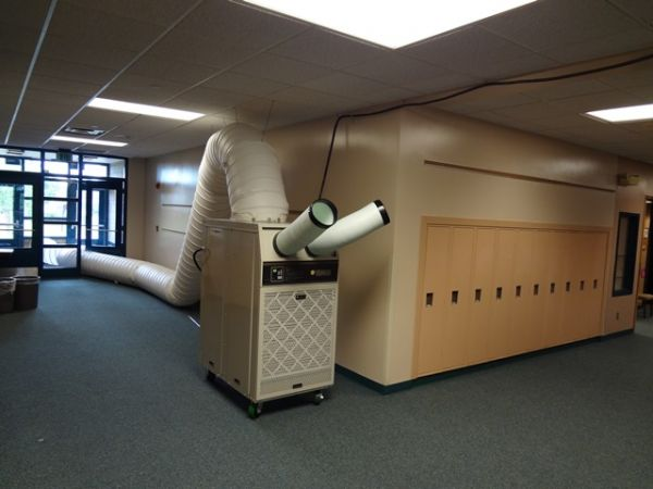 Portable air conditioning in school