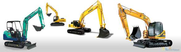 Excavator Rentals, Diggers, and Excavation Construction Equipment for Rent