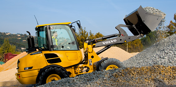Volvo CE Compact Wheel Loader Model L20F For Rent