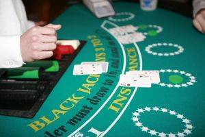 Iowa Black Jack Table For Rent with green felt