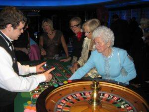 Casino Party in Kentucky with a Roulette Table