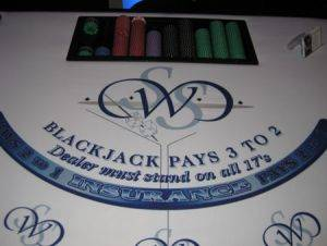 Black Jack Table Rentals in Minneapolis, Minnesota