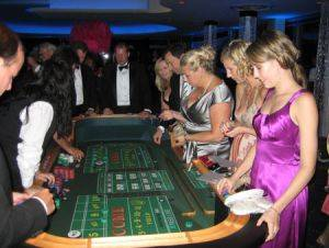 Craps game being played at a casino party in Minneapolis