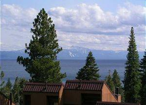 View of Mountains and Lake Tahoe From Deck