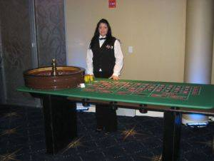 Roulette Table and Dealer for rent in Ohio