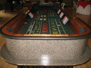 Craps table for rent in Michigan