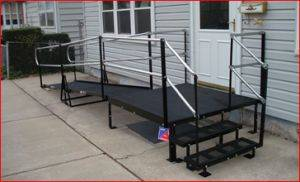Modular Ramp Systems-Portable Wheelchair Ramp Rentals