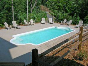 Inground Swimming Pool-Poolside Mountain Retreat - Georgia Luxury Cabins For Rent: