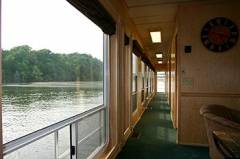 Hallway to Bedrooms on a House Boat for Rent in Dale Hollow, KY