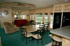 Living Area on Executive House Boat Rental in Dale Hollow, KY