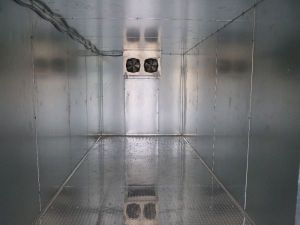 Interior of Walk In Cooler