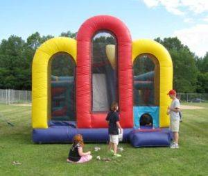 Louisville Inflatable Bouncer Rentals - Full of Fun Obstacle Combo Moonwalk For Rent - Kentucky Party and Event Planning