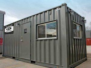 20ft container offices ground level building rental