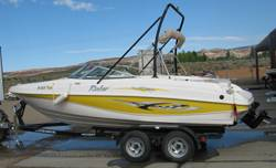 Lake Powell Boat rentals.  Sideview