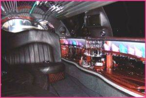 Black Town Car Limousine Rental Interior