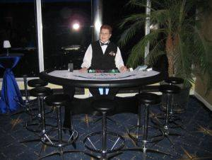 Blackjack Table, chairs, and dealer rentals in Ohio and Kentucky