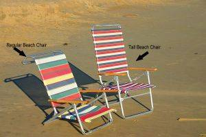 Virginia Beach Equipment Rentals-Tall Beach Chairs For Rent in Virginia