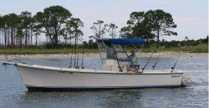 28 foot center console fishing charter boat rental in Seagrove Beach, FL