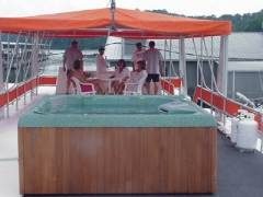 Executive Houseboat Rentals Hot Tub in Burkesville, KY