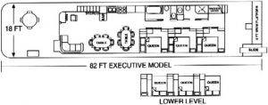 Floor plan of Executive House Boat For Rent in Dale Hollow Lake