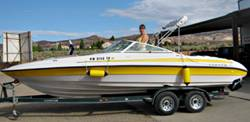 Lake Powell Boat Rentals.  2K Reinell boat for rent