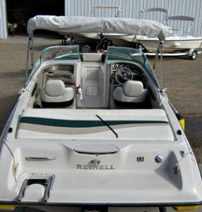 Lake Powell Boat Rentals.  2K Reinell rear view
