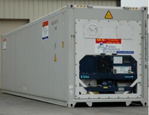 Back End of Refrigerated Container