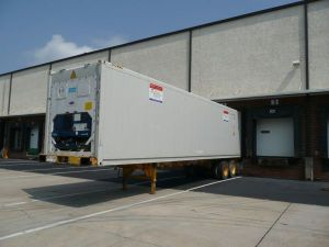 Outside View of Refrigerated Trailer