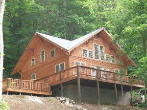 Manestay Red River Gorge Rental Cabin Exterior View