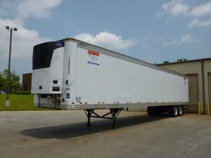 Outside View of Refrigerated Storage Trailer