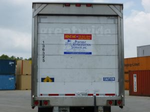 Back View of Refrigerated Trailer