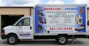 Medical Oxygen System rental delivery truck in South Florida
