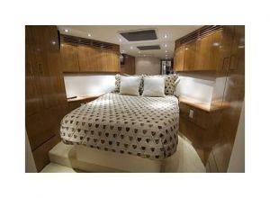 Bedroom of a Florida Luxury Fishing Boat Rentals