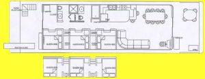 Floor Plan of Houseboat Rentals in Dale Hollow Lake, TN
