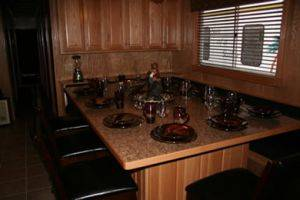 Dining Area on The Black Pearl Houseboat For Rent in Dale Hollow Lake, TN