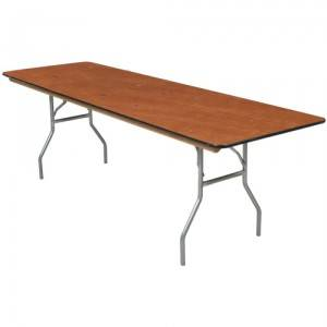 Banquet tables available in 8 foot and 6 foot