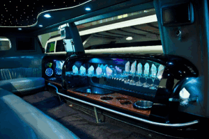 Ford Excursion Limo Rental Interior