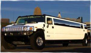 Hummer Limousine for Rental Exterior
