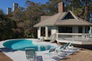 7 Dinghy Hilton Head Island Home Exterior with Pool