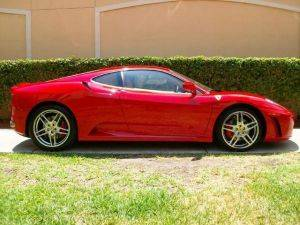 Los Angeles F430 Coupe Ferrari For Rent - Side View
