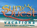 Logo for SunQuest Vacation Rentals in Kona, Hawaii