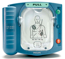 Blue Portable Defibrillator