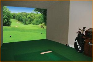 Image of the full virtual indoor golf game