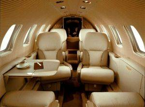 Citation Bravo Private Charter Jet Seating