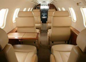 Private Charter Jet Seating