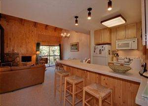 Town Home Rentals Kitchen with Bar in Lake Tahoe