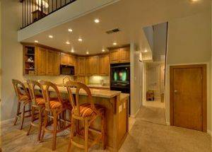 Condo Vacation Rental Kitchen with Bar in Lake Tahoe