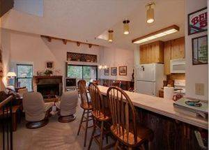 Condo Rental Kitchen with Bar in Lake Tahoe